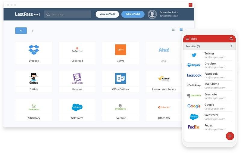 LastPass Enterprise screen
