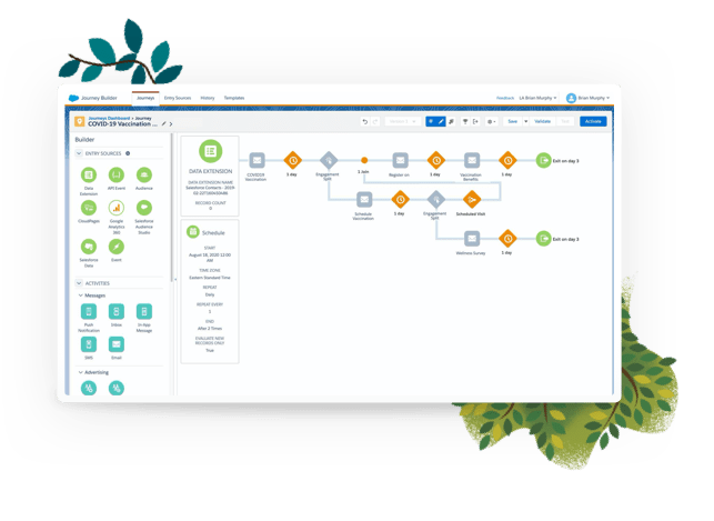 Salesforce Vaccine Cloud - Management Lifecycle - Software Screenshot