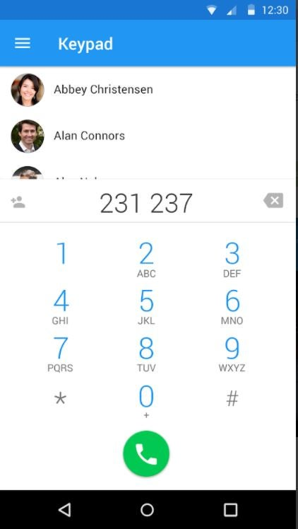 Ooma mobile app showing call