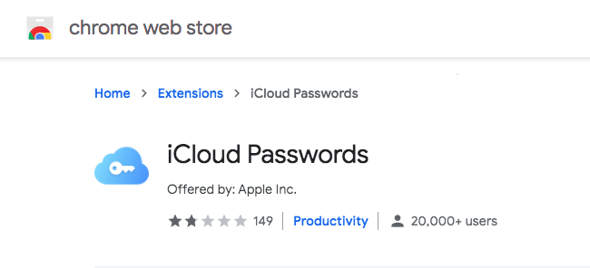 iCloud Passwords User Ratings