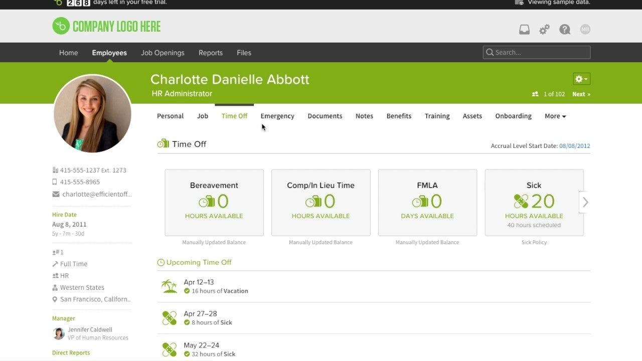 BambooHR User Profile