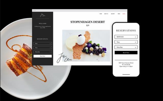 Wix Restaurant website builder