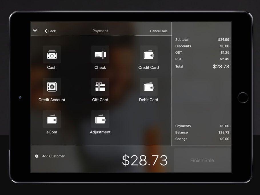 lightspeed ipad app sell product