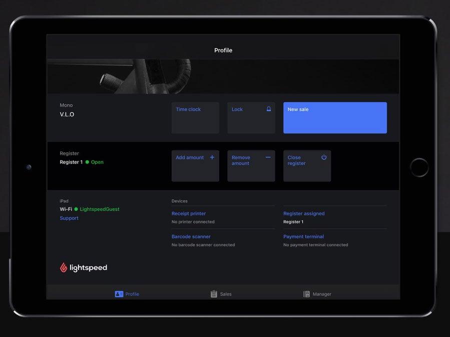 lightspeed ipad app profile