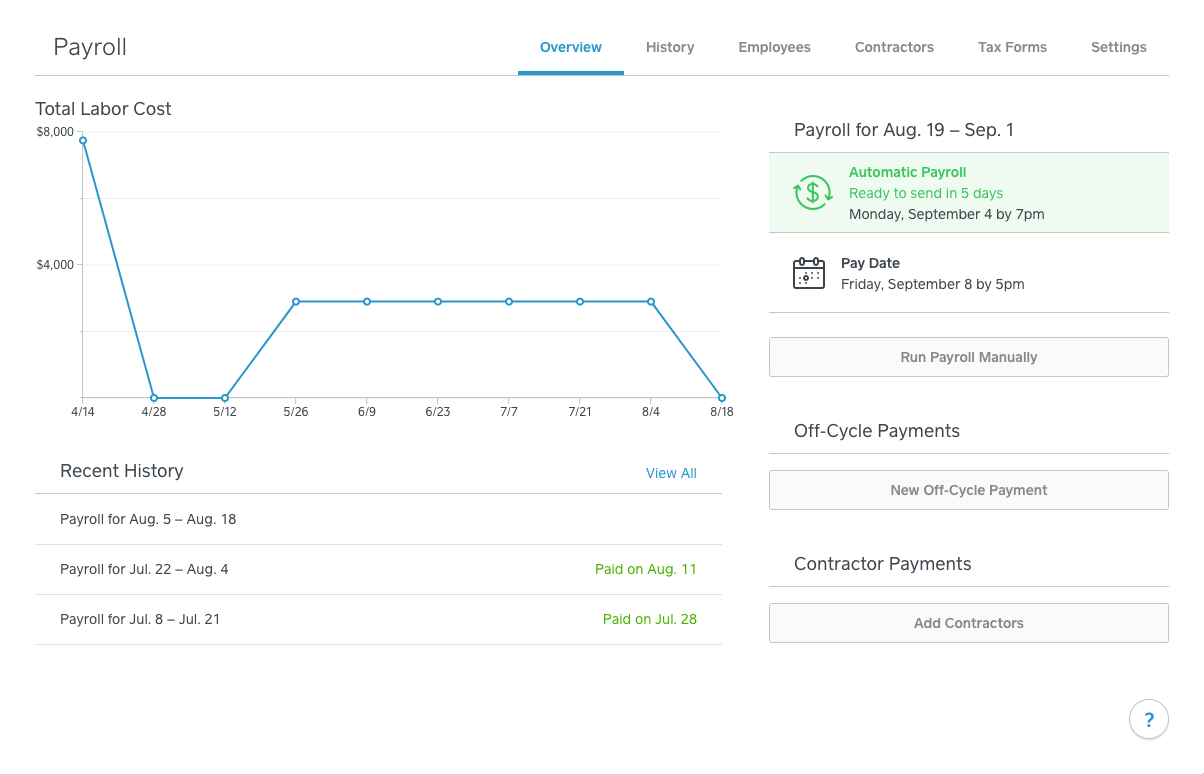 Square Payroll overview