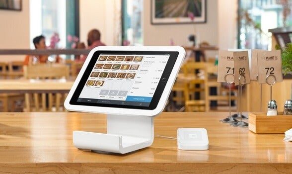 square restaurant pos on iPad with card reader