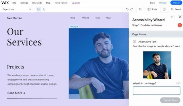 wix accesibility