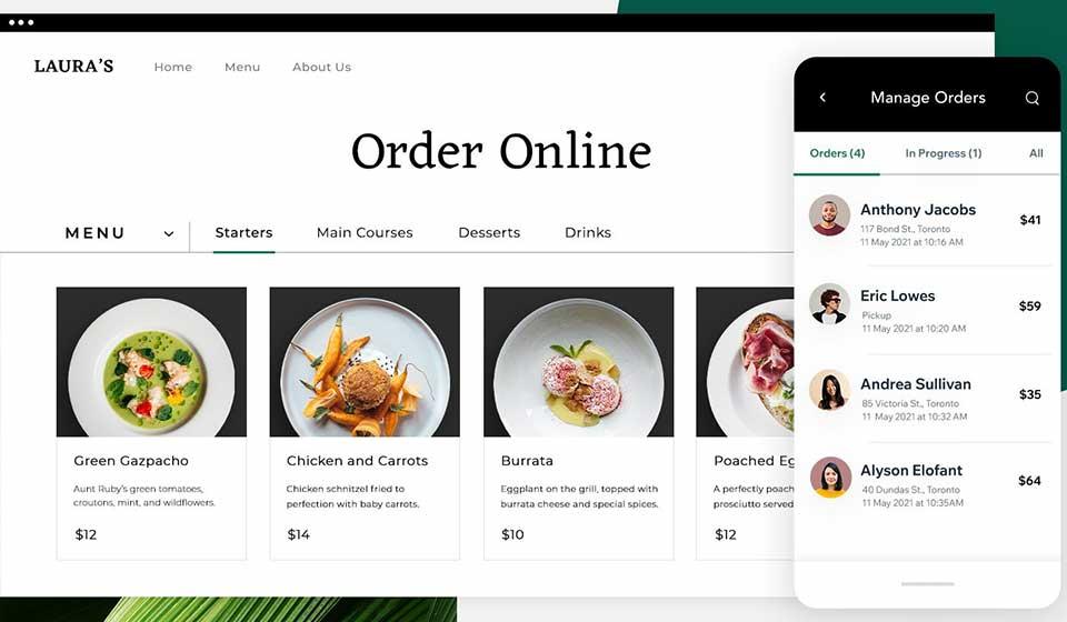 wix online ordering