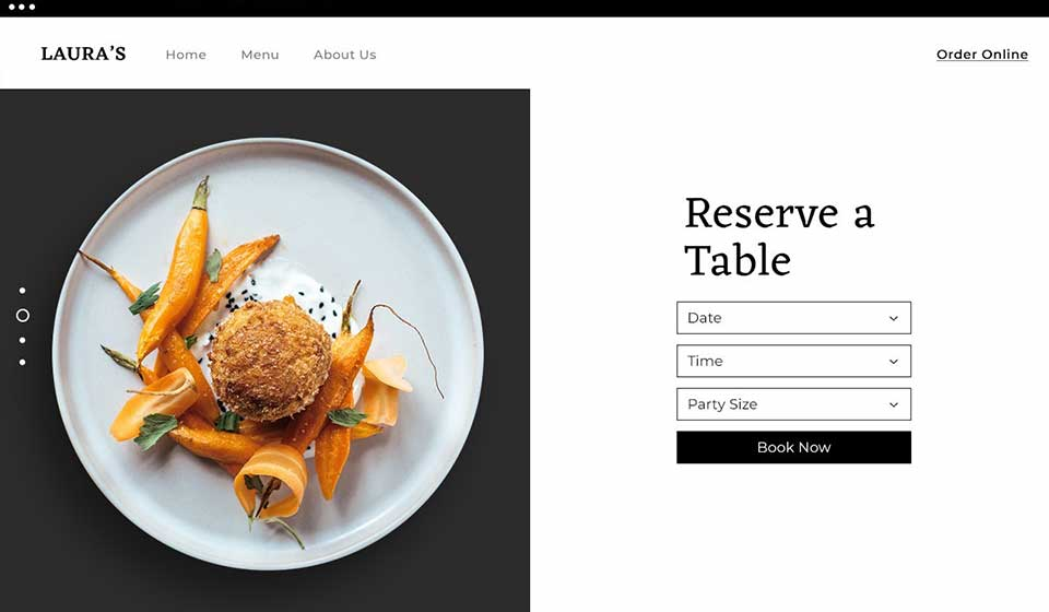wix table reservations