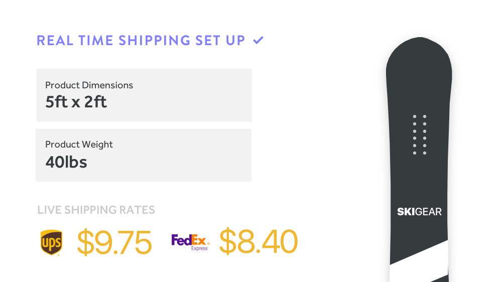 weebly real time shipping prices