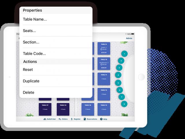 TouchBistro table service on iPad