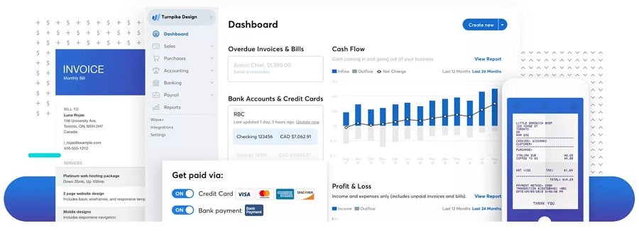Wave invoicing features