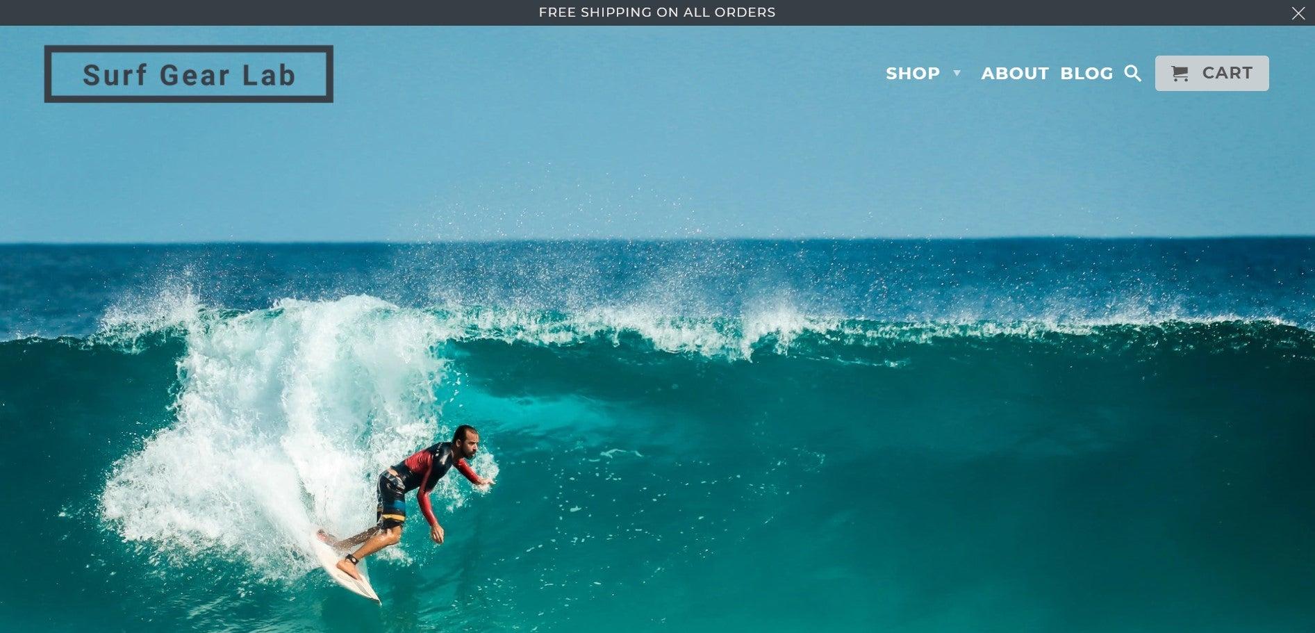 Surf Gear Lab website