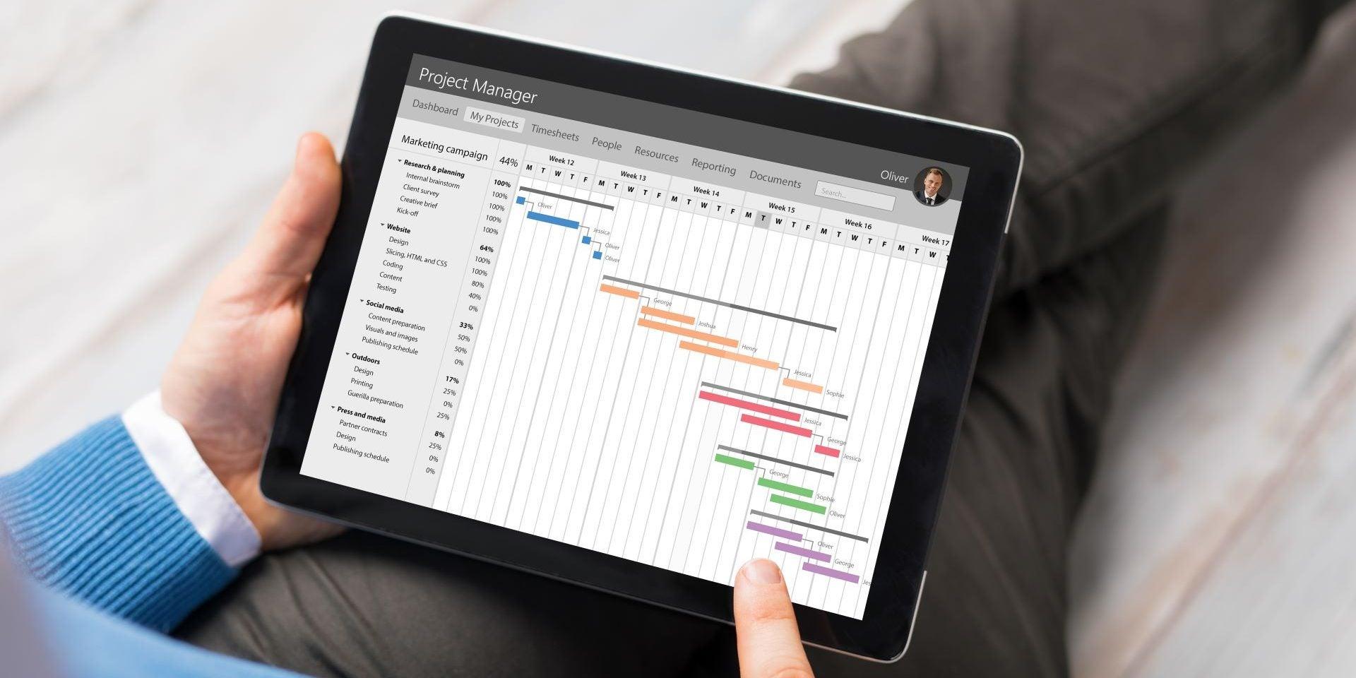 Project Management Tablet