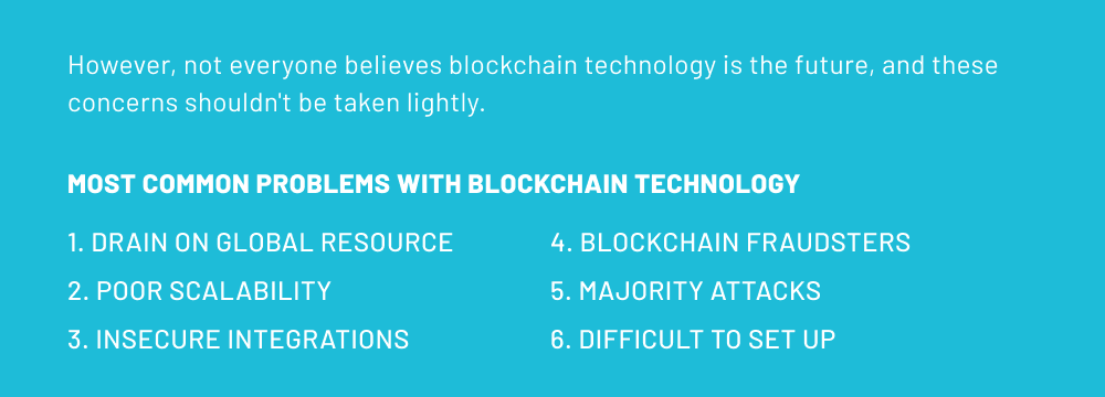 Most common problems with blockchain technology