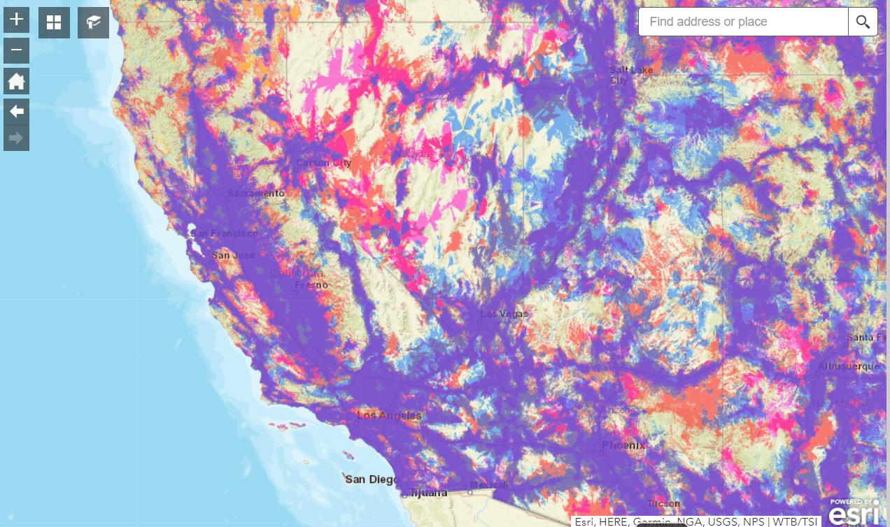 FCC mobile broadband map california