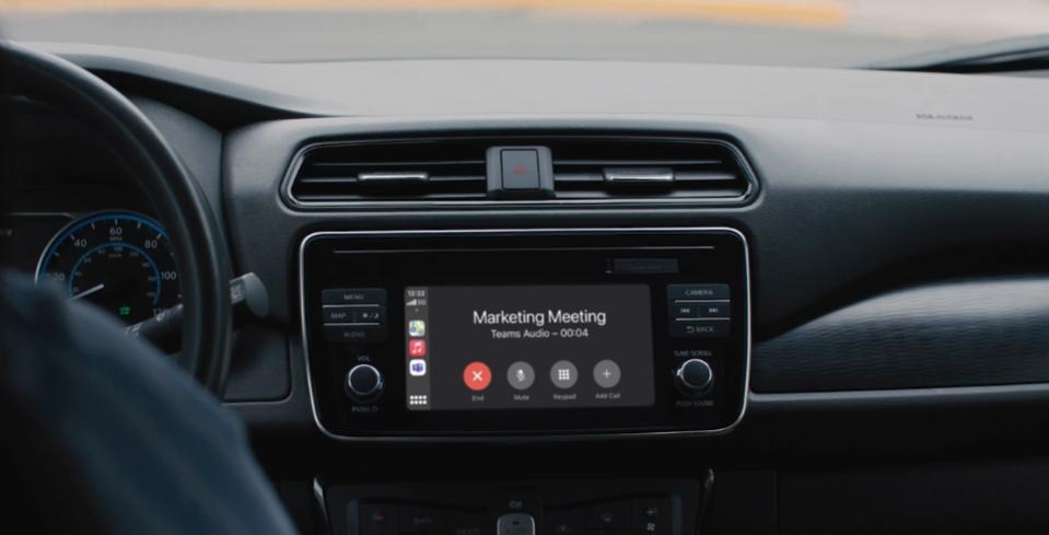Microsoft Teams Apple CarPlay