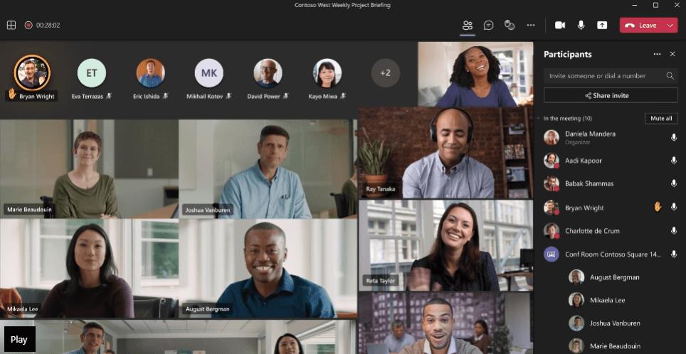 Microsoft Teams Screen