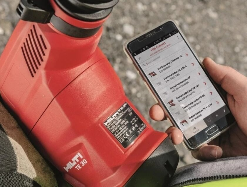 Hilti asset tracking mobile